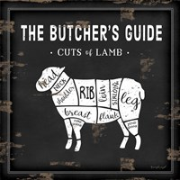 Butcher's Guide Lamb Framed Print