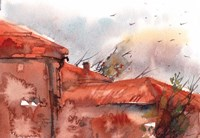 Red Roof Fine-Art Print