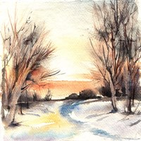 Winter Walkway Fine-Art Print