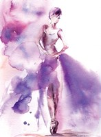 Purple Ballerina I Fine-Art Print