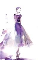 Purple Ballerina III Framed Print