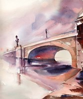 Bridge Over Troubled Watercolor Fine-Art Print