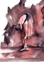 Maroon Ballerina Framed Print