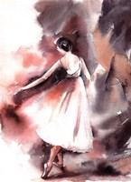 Maroon Ballerina II Framed Print