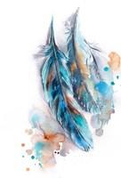 Blue Feather Fine-Art Print