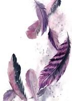 Purple Feathers III Fine-Art Print