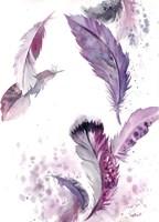 Purple Feathers IV Fine-Art Print