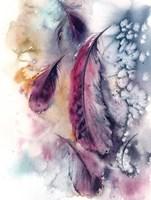Purple Feathers V Fine-Art Print