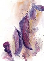 Purple Feathers VI Fine-Art Print