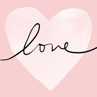 Pink Heart Love Fine-Art Print