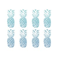 Beach Ombre Pineapples Simple Fine-Art Print