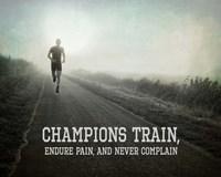 Champions Train Man Black and White Fine-Art Print