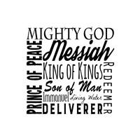 Names of Jesus Square Black Text Fine-Art Print