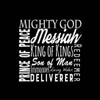 Names of Jesus Square White Text Fine-Art Print