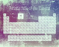 Periodic Table Purple Grunge Background Fine-Art Print