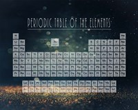 Periodic Table Gold Dust - Blue Fine-Art Print