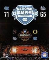 University of North Carolina Tar Heels 2017 NCAA Men's College Basketball National Champions Composite Fine-Art Print