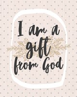 I am a Gift from God Dot Pattern Fine-Art Print