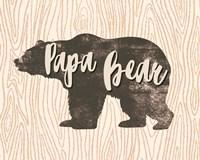 Papa Bear Silhouette Fine-Art Print