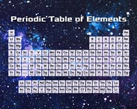 Periodic Table Of Elements Space Theme Fine-Art Print