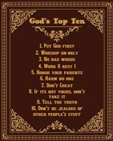 God's Top Ten Brown and Gold Design Fine-Art Print