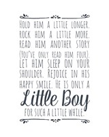 Hold Him A Little Longer - White Fine-Art Print
