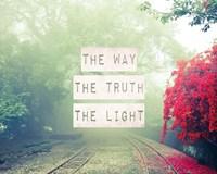 The Way The Truth The Light Railroad Tracks Fine-Art Print