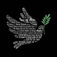 Names of Jesus Dove Silhouette Black Fine-Art Print