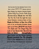 Names of Jesus Ocean Sunset Fine-Art Print