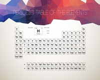 Periodic Table Of The Elements Abstract Low Poly Shape Fine-Art Print