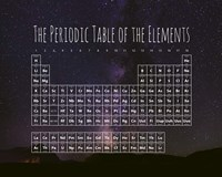The Periodic Table Of The Elements Night Sky Purple Fine-Art Print