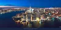 New York Downtown by Night Fine-Art Print