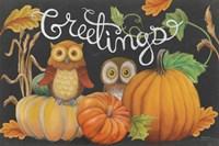 Harvest Owl I Fine-Art Print