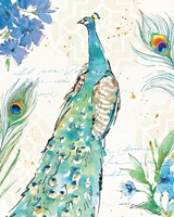 Peacock Garden I Fine-Art Print