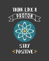 Think Like A Proton Gray Fine-Art Print