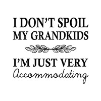 I Don't Spoil My Grandkids Leaf Design White Fine-Art Print