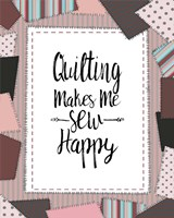 Quilting Makes Me Sew Happy Pink Fine-Art Print
