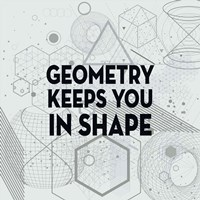 Geometry Keeps You In Shape Light Pattern Fine-Art Print