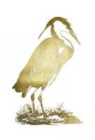 Gold Foil Heron I Fine-Art Print
