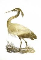 Gold Foil Heron II Fine-Art Print