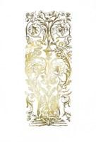 Gold Foil Renaissance Panel I Fine-Art Print