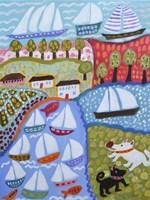 Dogs & Sailboats Fine-Art Print