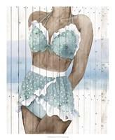 Bygone Bathers I Fine-Art Print