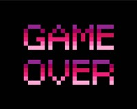 Game Over  - Purple Fine-Art Print