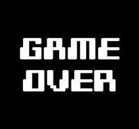 Game Over  - Black Fine-Art Print