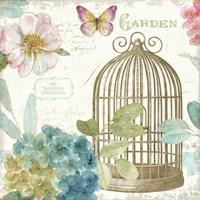 Rainbow Seeds Floral Birdcage III v2 Fine-Art Print