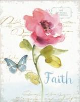 Rainbow Seeds Floral VI Faith Fine-Art Print