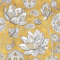 Color My World Lotus I Gold Fine-Art Print