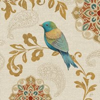 Bird Rainbow Blue and Yellow Fine-Art Print