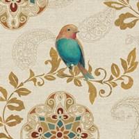 Bird Rainbow Teal Fine-Art Print